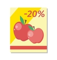 Apple Sale in Flat Design vector image vector image