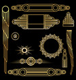 art deco set of objects vector image