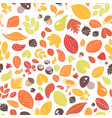 autumn seamless pattern with fallen leaves vector image