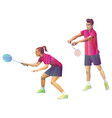 badminton players mixed doubles team man