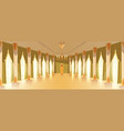 ballroom hall with chandelier vector image vector image