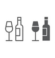 bar line and glyph icon alcohol and drink bottle vector image vector image