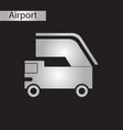 black and white style icon ramp airport vector image vector image