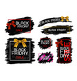 black friday sale banner design vector image