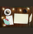 blank sheet paper new year or christmas card vector image