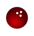 bowling ball icon vector image vector image