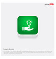 bulb concept creative idea icon green web button vector image vector image