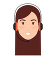 call center agent head avatar character vector image vector image