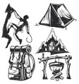 camping elements badges logos labels posters vector image vector image