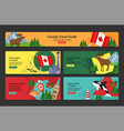 canada travel guide horizontal landing page set vector image vector image