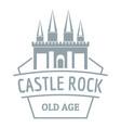 castle rock logo simple gray style vector image vector image