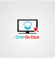 chat chef with bubble logo icon element and vector image
