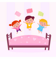 childrens bedroom fight vector image vector image