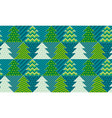christmas tree textile vector image vector image