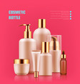 cosmetic bottle realistic vector image