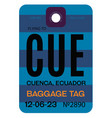 cuenca airport luggage tag