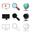 Design of education and learning icon set