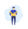 donation concept man with box vector image