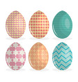 eggs painted happy easter vector image vector image