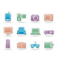 electronic appliances icons vector image vector image