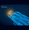 futuristic of technology gradient blue stripe vector image