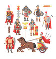 gladiator roman warrior man character in vector image vector image
