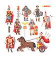 gladiator roman warrior man character vector image