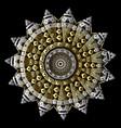 greek ornamental round 3d mandala pattern floral vector image vector image