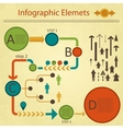 green red infographics elements collection vector image