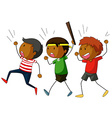 Group of boys on strike vector image vector image