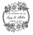 hand drawn flower template best for your frame vector image vector image