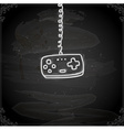 hand drawn game controller vector image