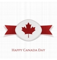 Happy Canada Day festive Card Template vector image