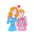 happy friendship day mother and daughter vector image vector image