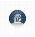 Happy Presidents Day realistic blue Label vector image