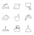 hotel icons set outline style vector image vector image