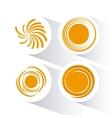 Icon of yellow sun vector image