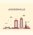 jacksonville skyline florida usa line city vector image vector image