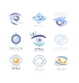 Kids Optics Clinic And Ophthalmology Cabinet Set vector image