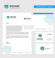 locked folder business letterhead envelope and vector image vector image