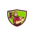 Lumberjack Axe Shield Retro vector image vector image