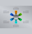 modern colorful infographics options template vector image
