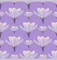 nature spring crocus flower wreath vector image
