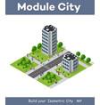 people walking around city vector image vector image