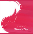 profile a beautiful girl to celebrate womens vector image
