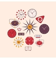 Retro wall and alarm clocks vector image