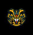 samurai head mascot logo vector image vector image