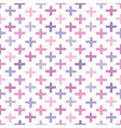 seamless hipster crosses background pattern light vector image vector image