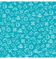Seamless pattern with travel line icons vector image vector image