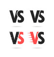 set different versus signs vector image